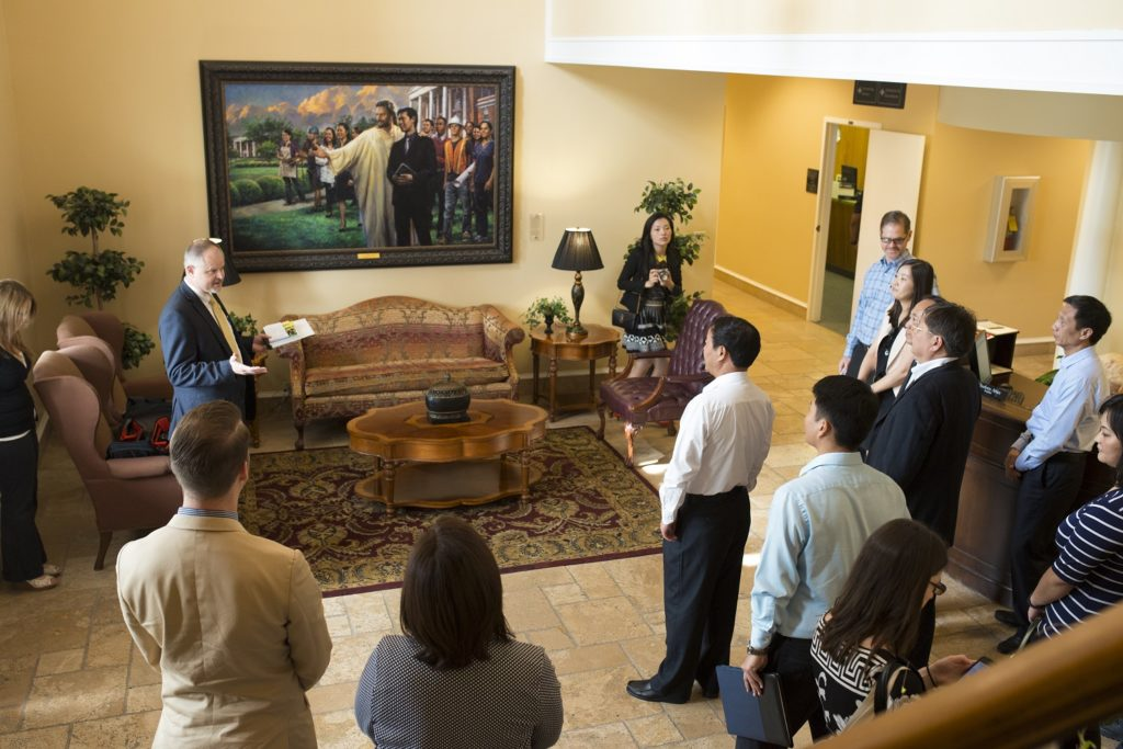 Wuxi delegation touring Southern Adventist University