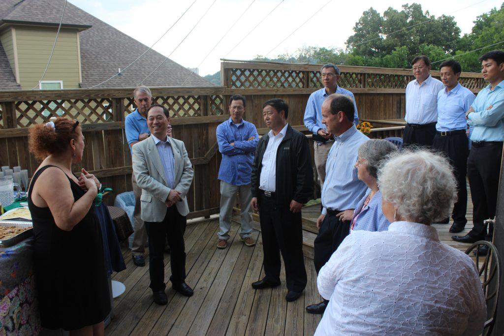 Wuxi delegation at Sister Cities potluck
