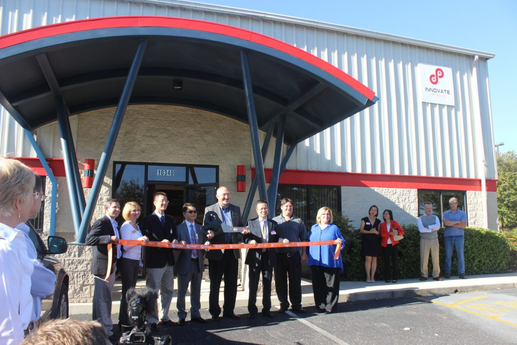 Innovate Manufacturing Ribbon Cutting in Knoxville, October 16, 2015