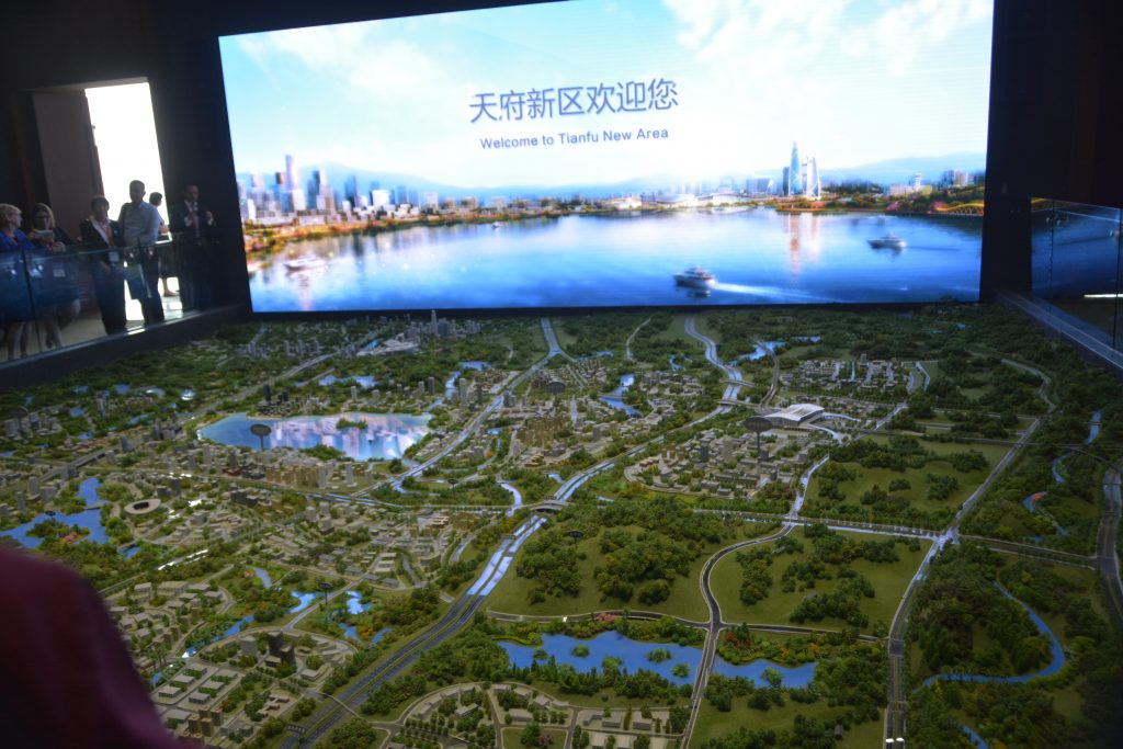 Diorama of the Tianfu New Area in Chengdu