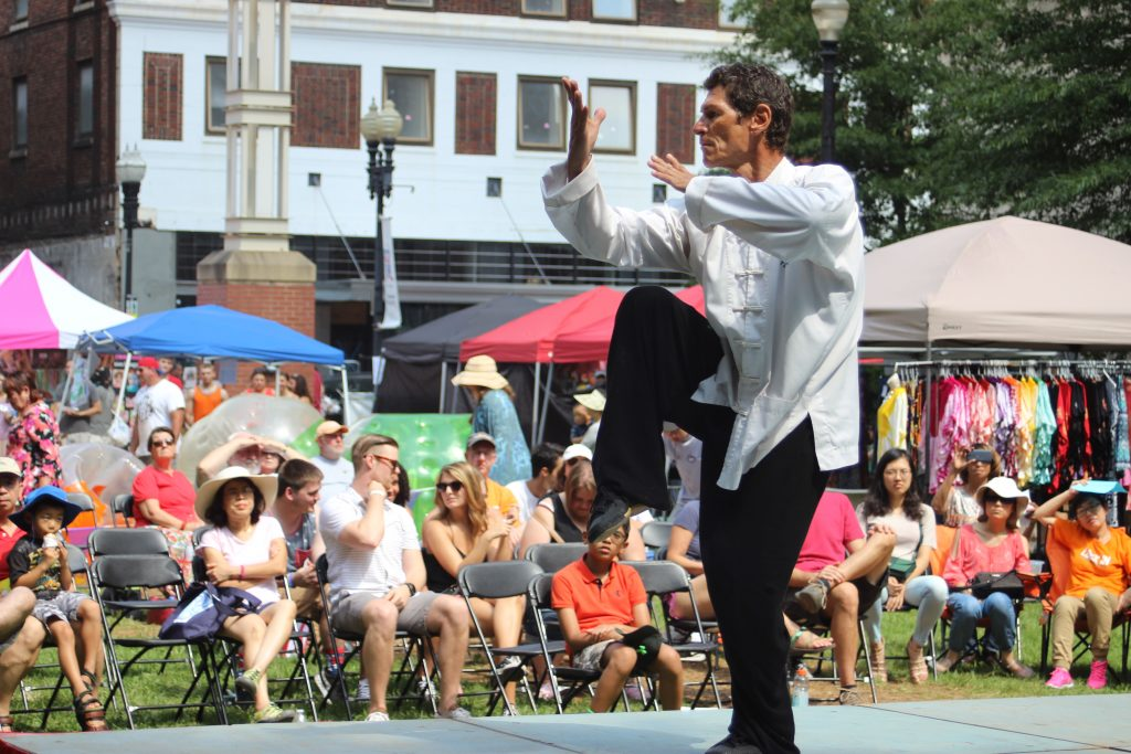 Martial arts stage performance