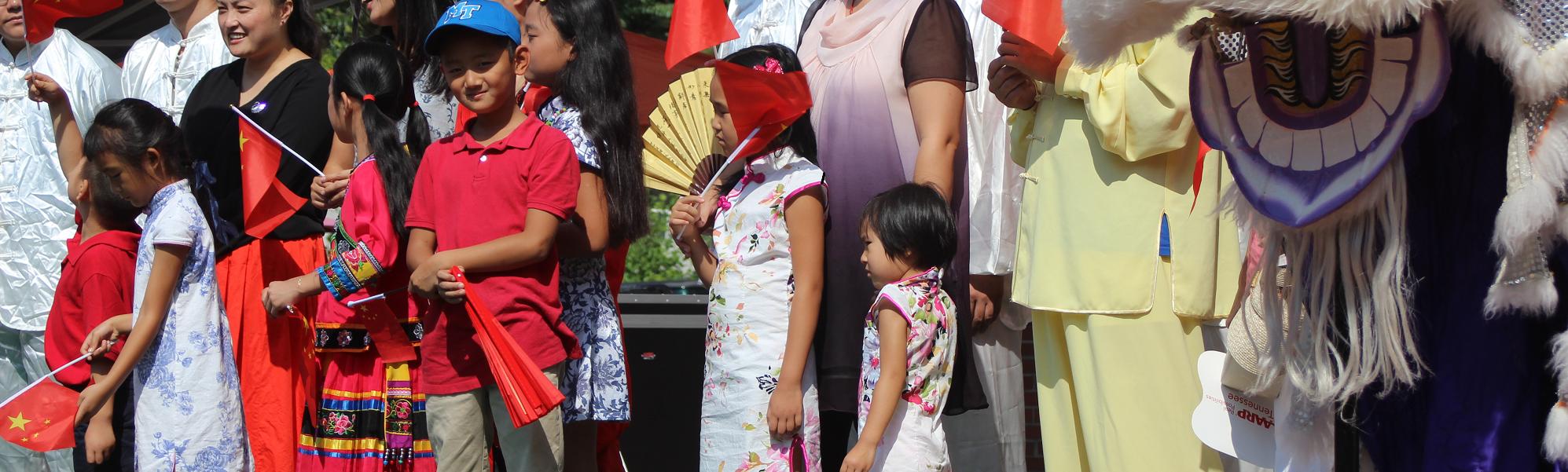 asian festival crowd