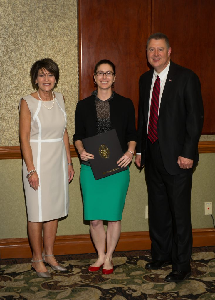 Kim Denton, Elizabeth Rowland, and IPS Vice President Dr. Herb Byrd.