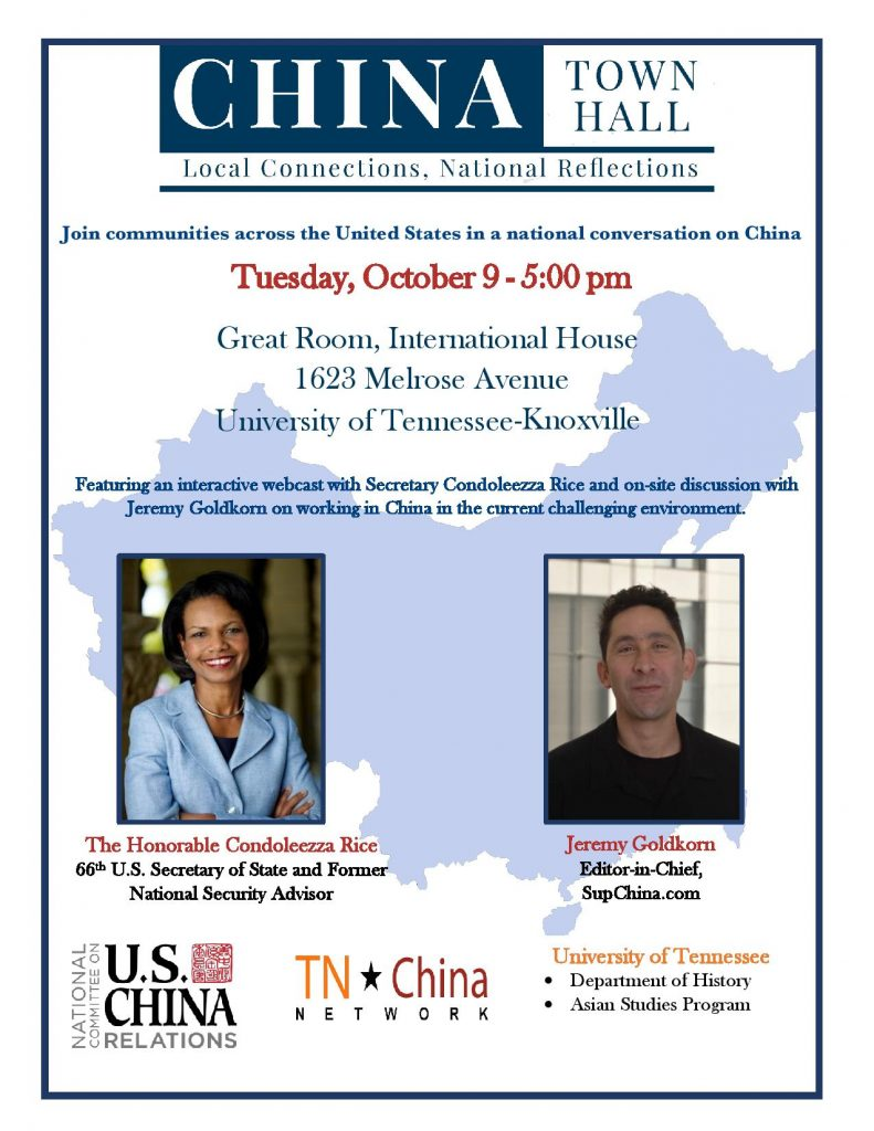CHINA Town Hall - Knoxville Flier